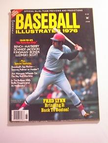 Baseball Illustrated,1976,Fred Lynn cover