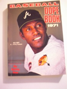 1971 Baseball Dope Book,RICO CARTY cover