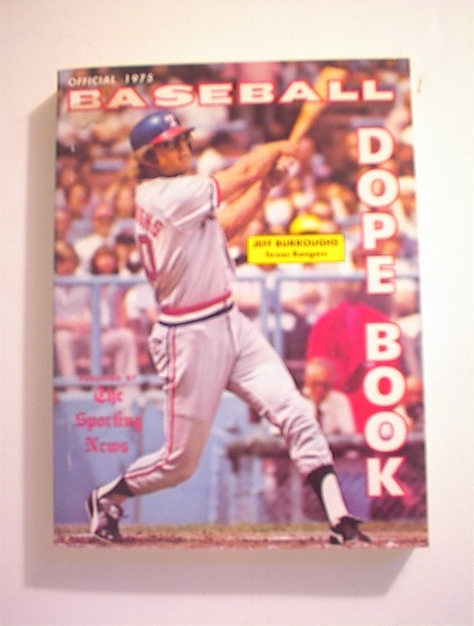 1975 Baseball Dope Book,JEFF BURROUGHS cover