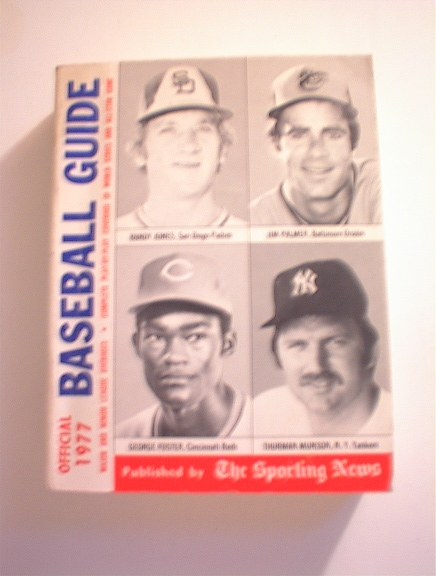 BASEBALL GUIDE,1977,JONES,PALMER,FOSTER cover