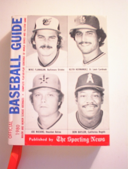 BASEBALL GUIDE,1980,FLANAGAN,HERNADEZ,cover