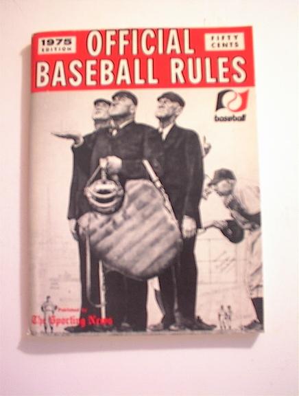 1975 Offical Baseball Rules Book