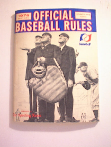 1976 Offical Baseball Rules Book