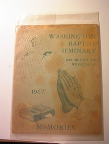 Washington Baptist Seminary 1967 Memories