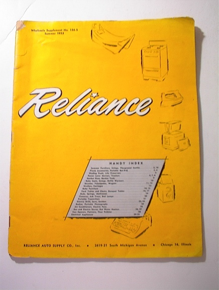 Reliance Whole Supplement No.136-S,1953