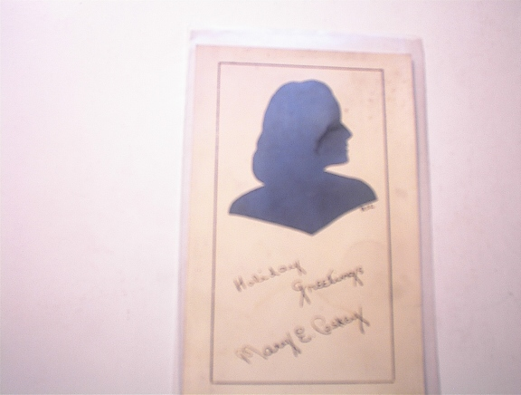 1943 Silhouette  of A Woman Post Card