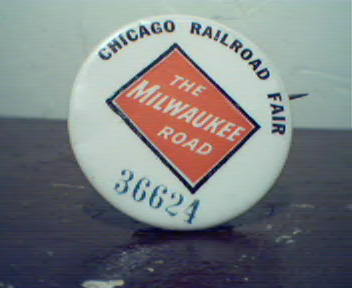 Chicago Railroad Fair Metal Pin Badge!