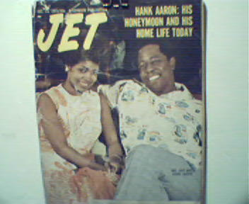 Jet-12/13/73-Hank Aaron and His Honeymoon!