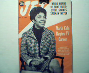 JET-8/31/67- Maria Cole Beings TV Career!