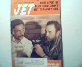 JET-7/7/77-Black Congressman visists Castro