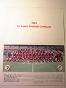 1981 St.Louis Cardinals Greetings Card