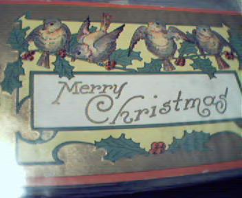 Merry Christmas Postcard! COLOR!