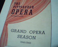 Pittsburgh Opera 1948-49 Season Program!