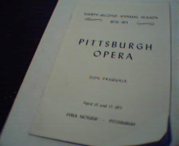 Pittsburgh Opera-Don Pasquale 4/15-17/71