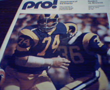 Pro=Raiders vs Broncos Program from 12/8/75!