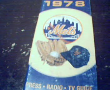 1978 New York Mets Press Radio and TV Guide!