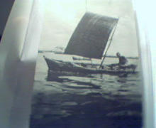 Fishing Boat in Zanzibar, with Postmark!