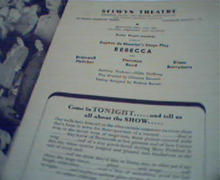 Chicago Stagebill-Rebecca Diana Barrymore!