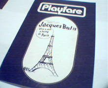 Playfare-Jacques Brelis alive in Paris!