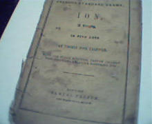 Ion- published by Samuel French! c1860!