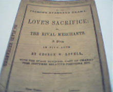 Love's Sacrifice by Samuel French from c1860