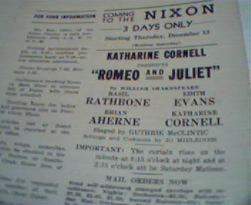 Romeo and Juliette with Basil Rathbone!