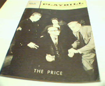 Playbill-The Price-Albert Salmi, Kate Reid