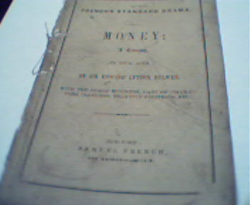 Money by Samuel French! Published circa 1860
