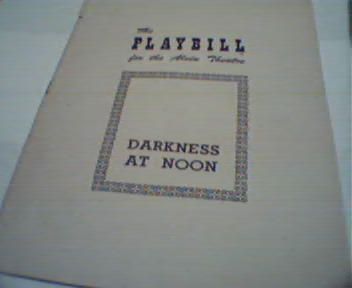 Playbill-Darkness at Noon with Kim Hunter