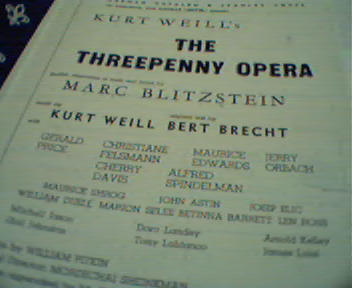 The Three Penny Opera-Kurt Weil,Jerry Orbach