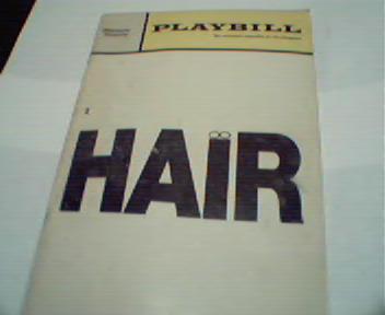 Playbill-10/69-Hair with Keith Carradine!
