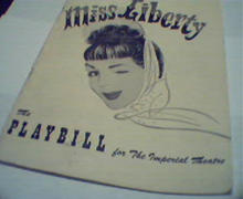 Playbill-Miss Liberty with Eddie Albert!
