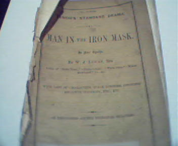 Man in the Iron Mask from Samuel French!