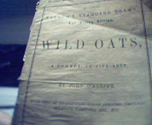 Wild Oats published by Samuel French c1860!