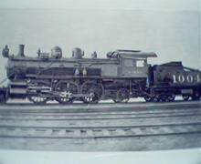 Engine 1004-1000 Class Santa Fe RR!Photo Re