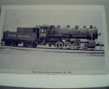 Rock Island Oil Burning 305! Photo Repro!
