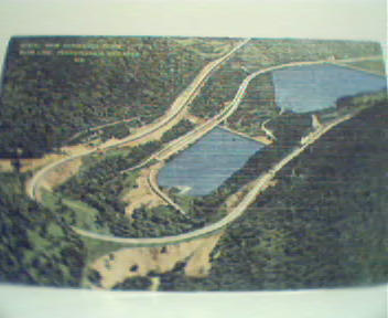 Aerial View of Horseshoe Curve in PA!Linen!