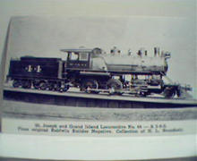 St. Joseph and Grand Island Loco #44! Photo!