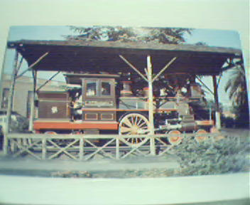 C.P. Huntingdon Locomotive on Exhibit!Color!
