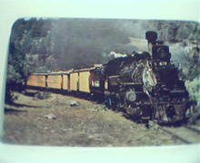 Last of the Narrow Gauge Trains-Color Photo