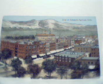 Colorized Photo Repro of Colorado Springs!