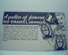 Nu Enamel Varnish Advertising Card!