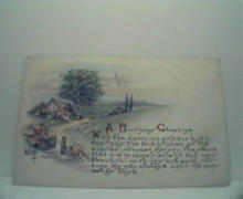 A Birthday Greeting with Poem! Color! c1900