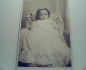 Baby Negro Child in White Dress! c1900!