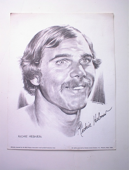 c 1960 Richie Hebner Illustrated Print