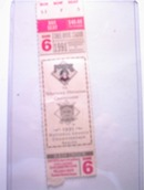 1991 Pirates vs. Western Division ChampTicket
