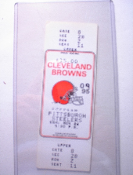 11/26/95 Cleveland Browns vs. Steeler Ticket