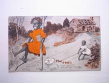 c 1900 Korn Kinks SAMBET Postcard