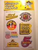 MINT 1980 PITTSBURGH STEELER PRIDE PAK DECALS