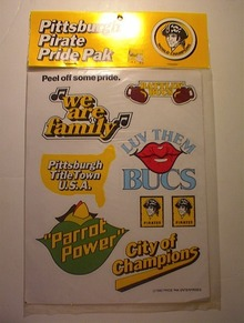 MINT 1980 PITTSBURGH PIRATE PRIDE PAK DECALS